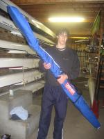 Rob with oar bag