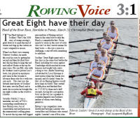Great8 in Rowing Voice magazine