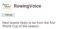 Rowing Voice tweets
