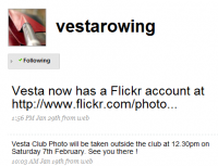 Vesta Rowing Club tweets
