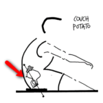 Couch Potato rowing posture