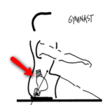 Gymnast rowing posture