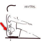 Neutral rowing posture