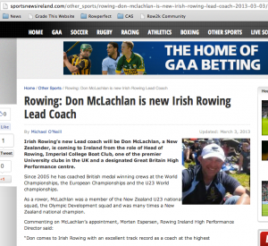 Irish Rowing announcement