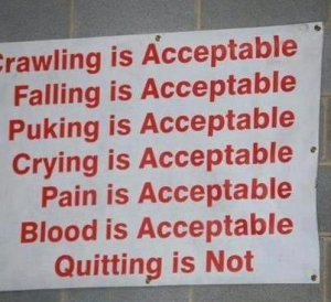 Quitting is not