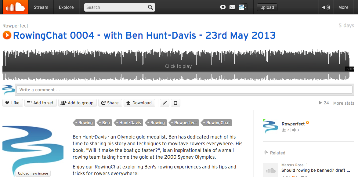 Ben Hunt-Davis on Soundcloud with RowingChat