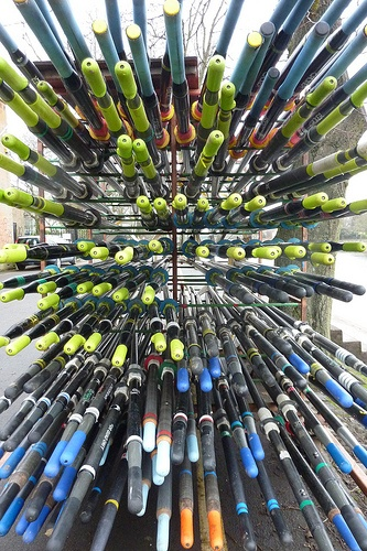 Stacked Oars