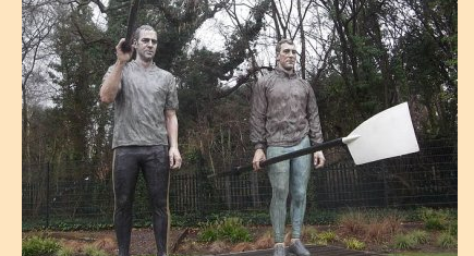Redgrave & Pinsent rowing statue