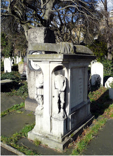Champion Sculler, Robert Coombes' grave in Brompton Cemetary London
