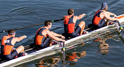 Rowing variation in catch posture