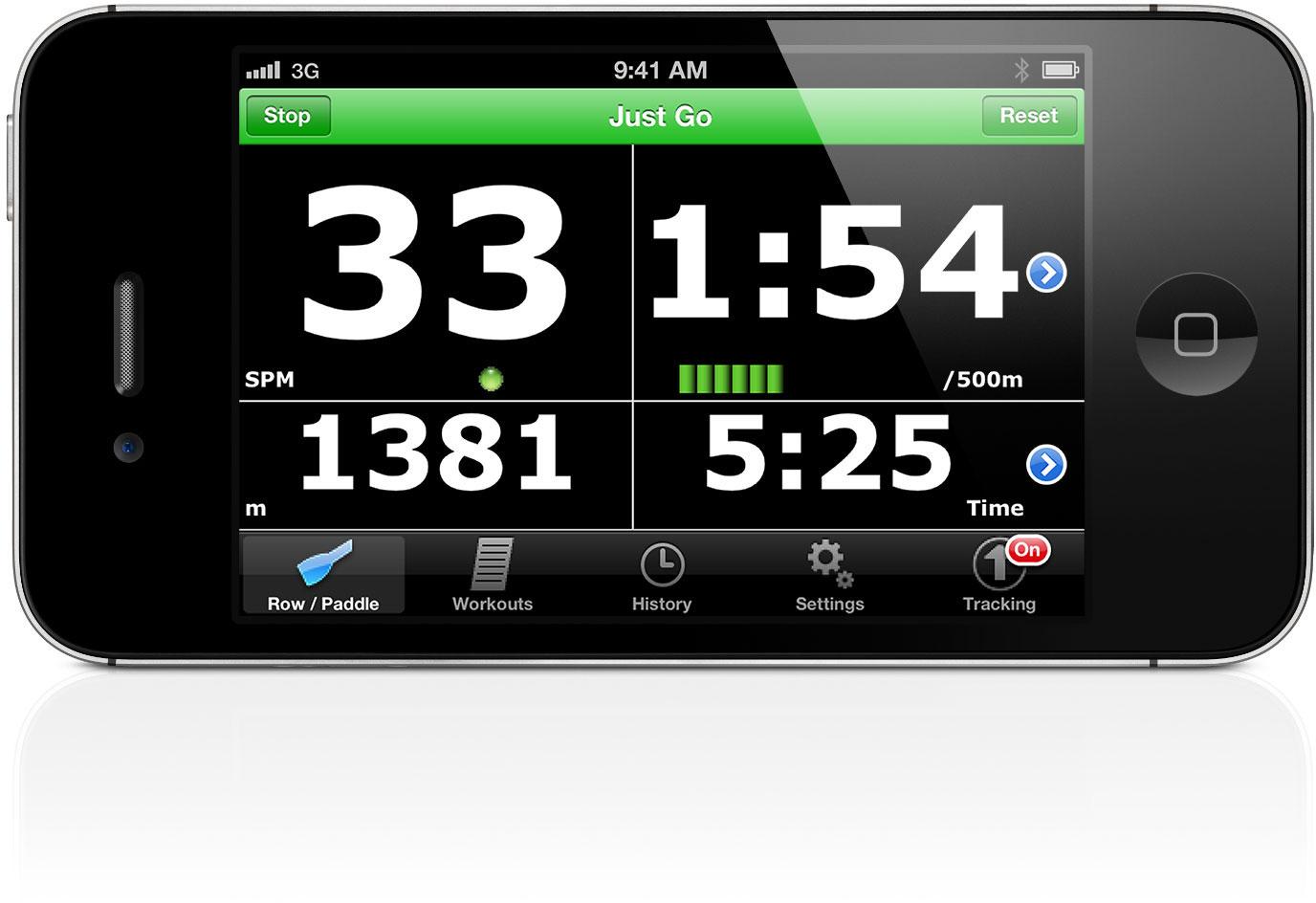 Crew Nerd rate/split display rowing app