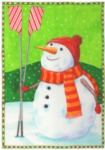 Frosty Row man christmas card