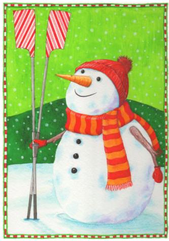 Frosty Row man christmas card