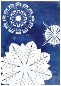 Oars snowflake christmas card