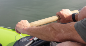 Grip holding a rowing oar