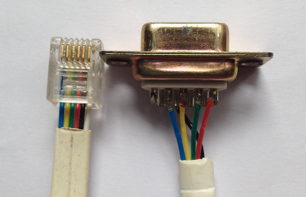 Rowperfect classic interface wire showing pin positions