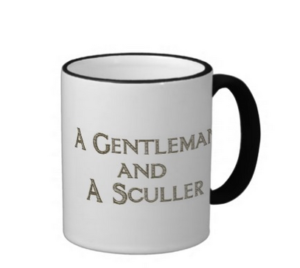A Gentleman and a Sculler coffee mug