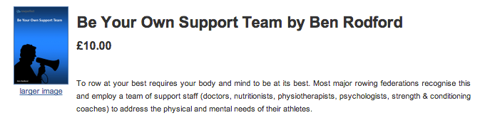 Ben Rodford's e book - be your own support team for rowing