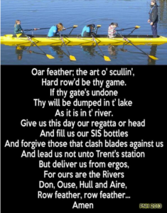 The Lord's Prayer for Yorkshire Rowers