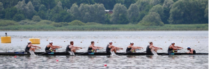Backsplash in Mens 8 crew  rowing
