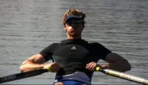 Sculling finish position -