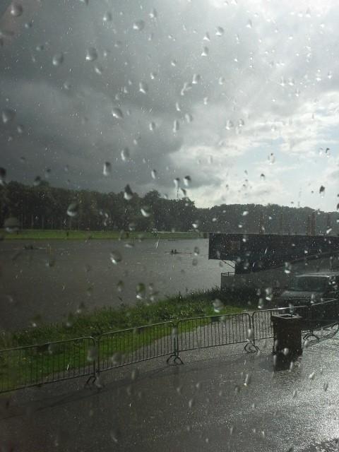 Rainy practice at the Bosbaan