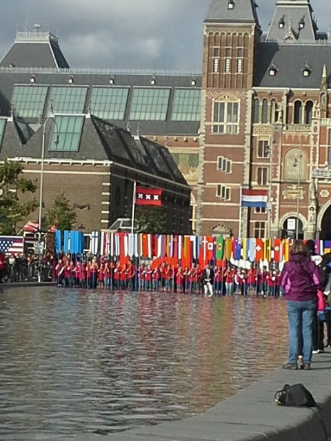 Rowing nations' flags Amsterdam