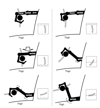Wrist position in rowing  scullling