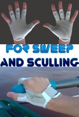 Rowing gloves for sweep and sculling