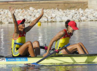 Athens Olympics Romania wins womens pair rowing