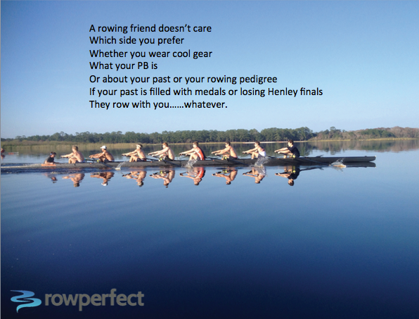 A Rowing Friend inspirational quote