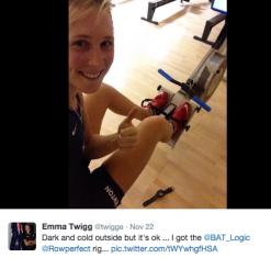 Emma Twigg using RP3 Rowperfect