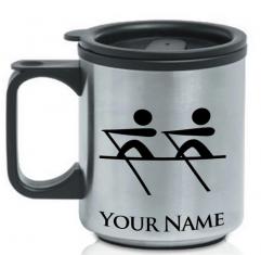 Personalised Rowing Thermal travel mug