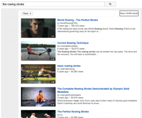 You Tube videos of the rowing stroke