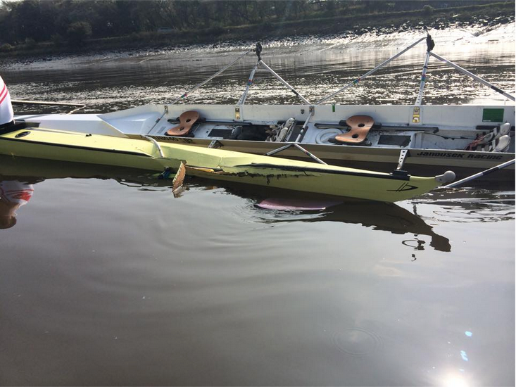 Rowing boat crash Empacher vs Janousek