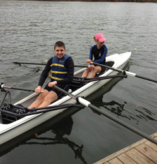 CHildren rowing
