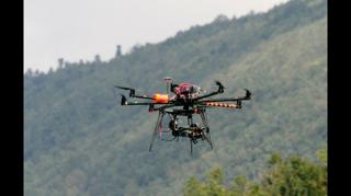 Rowing camera drone