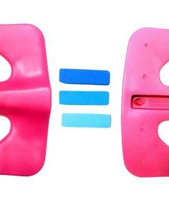 Rowing seat pad adjustment blocks