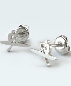 Oarsman Stud Earrings