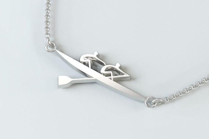 Rowing Pair Necklace