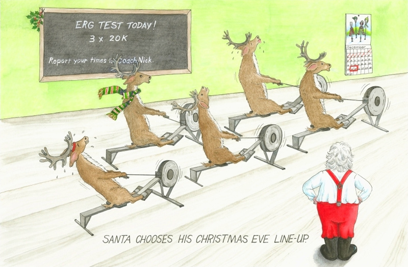 Santa Chooses Lineup Oariginals Christmas Reindeer Rowing