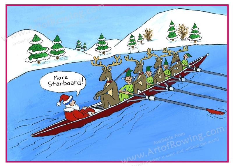More starboard! Rowing Santa and Other Christmas Funnies