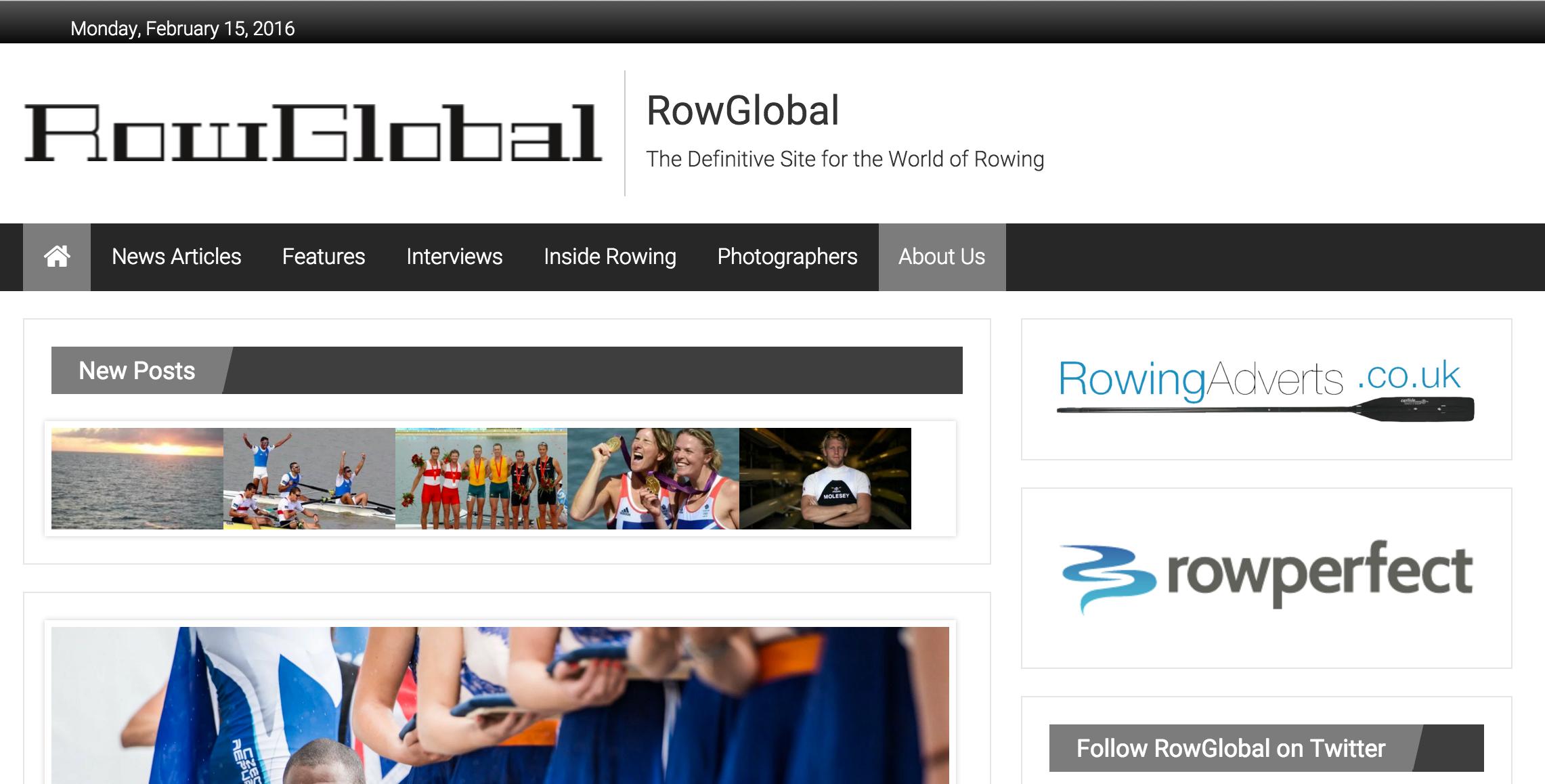 Row Global news website