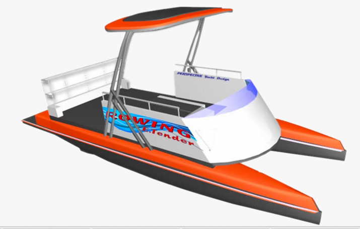 New Rowing Coach Boat design the Rowing E Tender