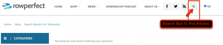 search, in site search, rowperfect, rowing advice, rowing education