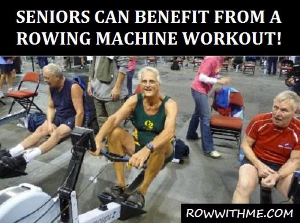 seniors rowing machine