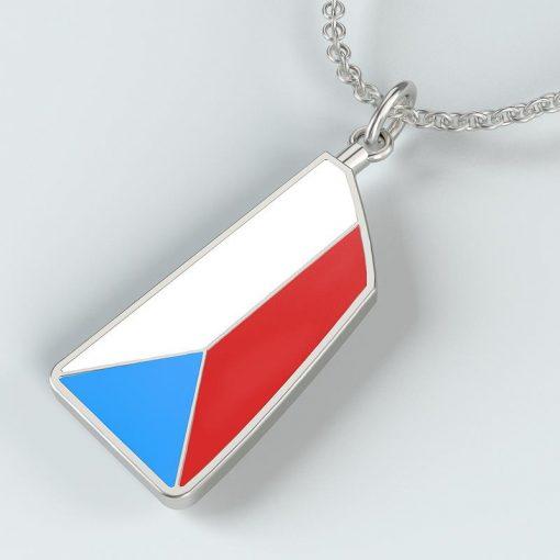rowing jewelry silver oar blade custom design colour pendant