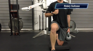 Rotary Suitcase stretch for T-Spine Mobility