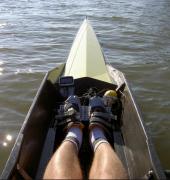 Rowing toe steering