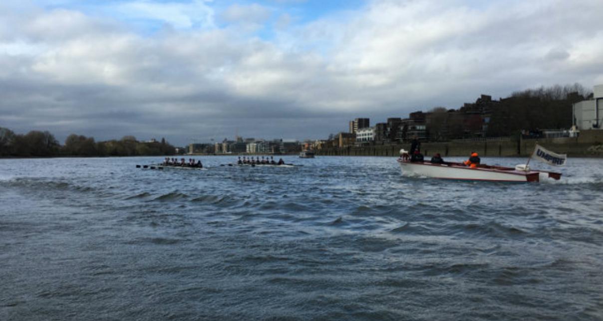 Rough(ish) water on the Tideway Image Credit: WestLondonSport